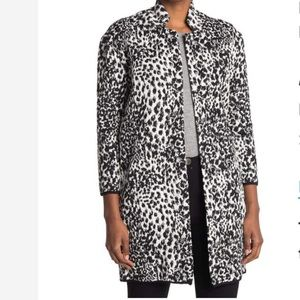 Philosophy Apparel Jacquard Knit Cheetah Jacket